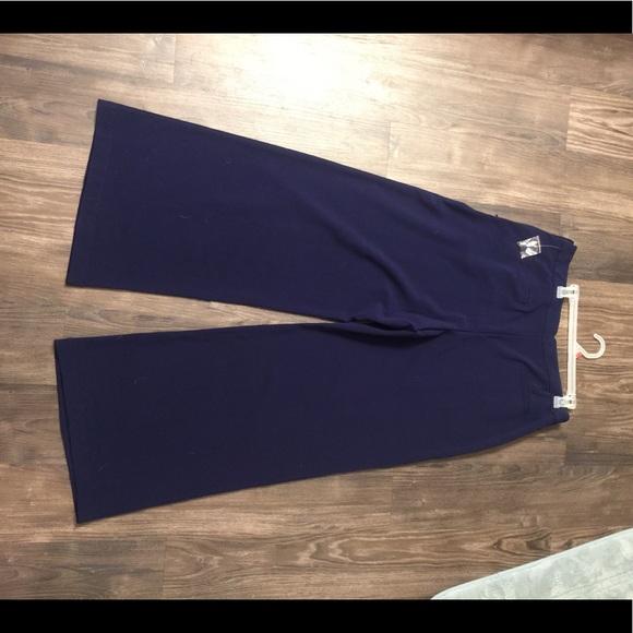 Modcloth Pants - MODCLOTH Wide legged navy slacks sz XL